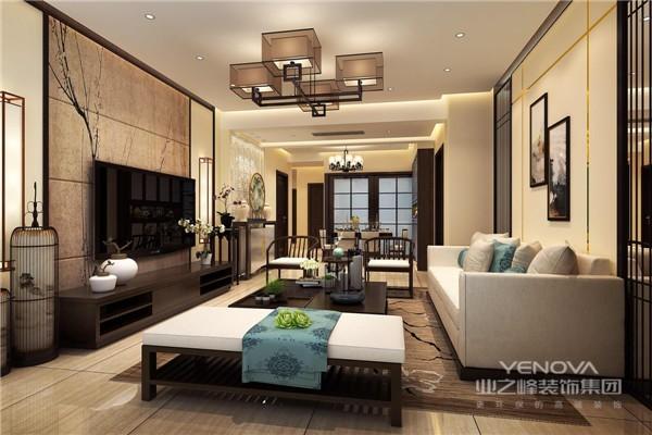 简洁硬朗的家具线条,体现了主人豁达的生活态度。电视背景墙和沙发背景墙两相呼应,异曲同工之妙。