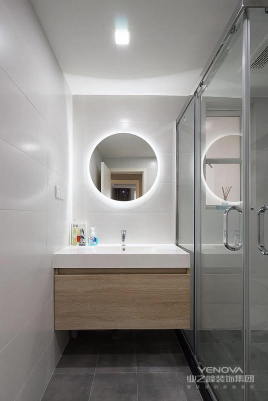 卫生间干湿分离,整个空间干净利索