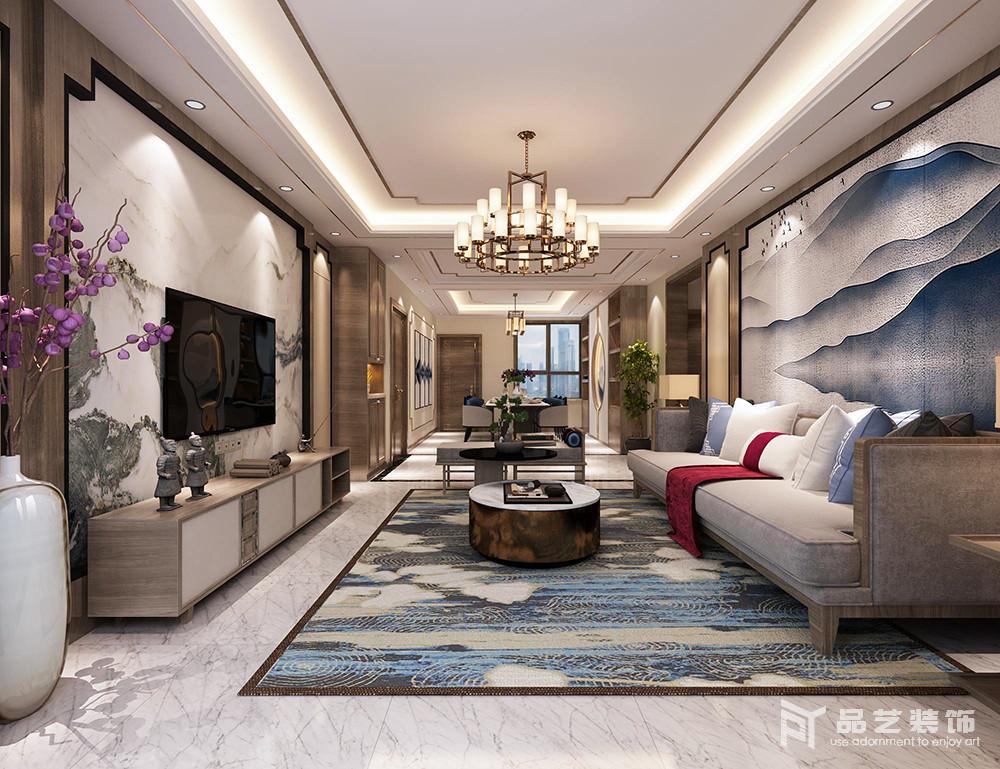 中冶麗苑四居室-客廳