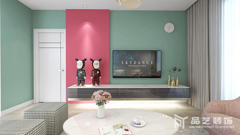 新富家園三居室-客廳電視背景墻
