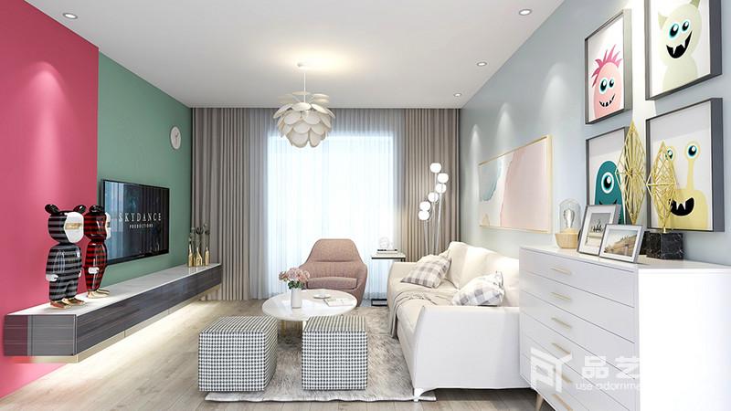 新富家園三居室-客廳