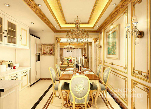 """简欧风格继承了传统欧式风格的装饰特点,吸取了其风格的""""形神""""特征,在设计上追求空间变化的连续性和形体变化的层次感,室内多采用带有图案的壁画、地毯、窗帘、床罩、及古典装饰体现华丽风格。"""