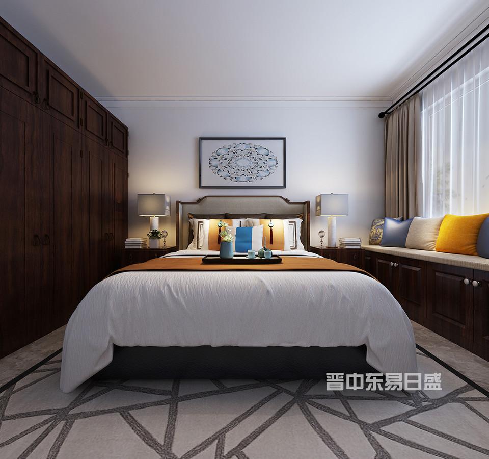 卧室作为我们居住的最主要的作用的场所而言,这也是家居的最主要功能。无论是大的房子,还是小的房子,卧室都是装修一样不可缺少的内容。在衣柜和床的选择上,整体以简单大气的家具,在窗户那面墙做了一组整体的地柜,其作用第一是为了收纳,第二是做了一个假飘窗,在柜体上放坐垫,就成了一个休闲的一个地方,坐在上面看看书,看看窗外的美景。