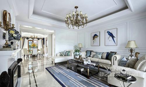 每一座房子都有很多种可能性,使生活也多了很多可能性;设计师在本案设计中,主打干净纯粹的白色,以轻盈的质感渲染家的浪漫;大量石膏线的运用,制造空间上的变化感,配上家具和装饰品,整个奢华浪漫的气质被营造的无以复加。