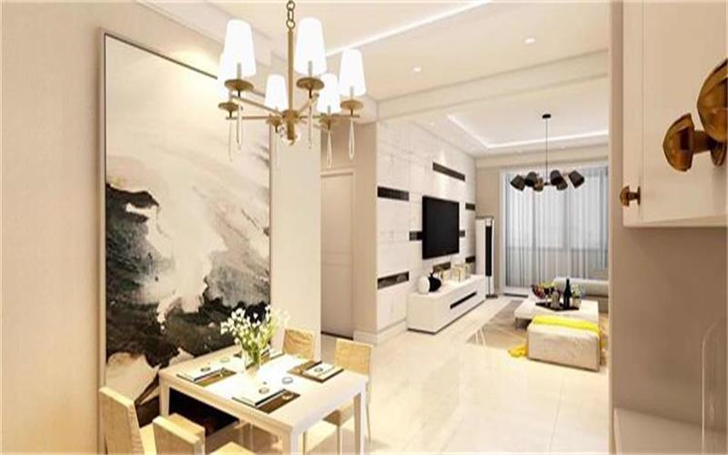 室内墙面、地面、顶棚以及家具陈设乃至灯具器皿等均以简洁的造型、纯洁的质地、精细的工艺为其特征。
