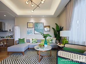 东南亚风格客厅装修效果图