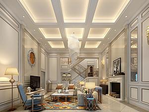 500平米绿地翠谷香堡  稳重轻奢混搭别墅装修500平米别墅