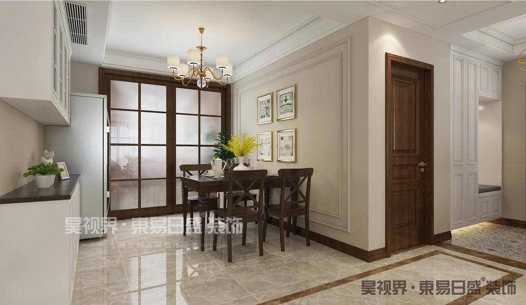 简美风格的家具简化了仿古风格的复杂和琐碎的元素,保持了原有的流畅弧度和线条,使其看起来含蓄又有一种清新的自然。