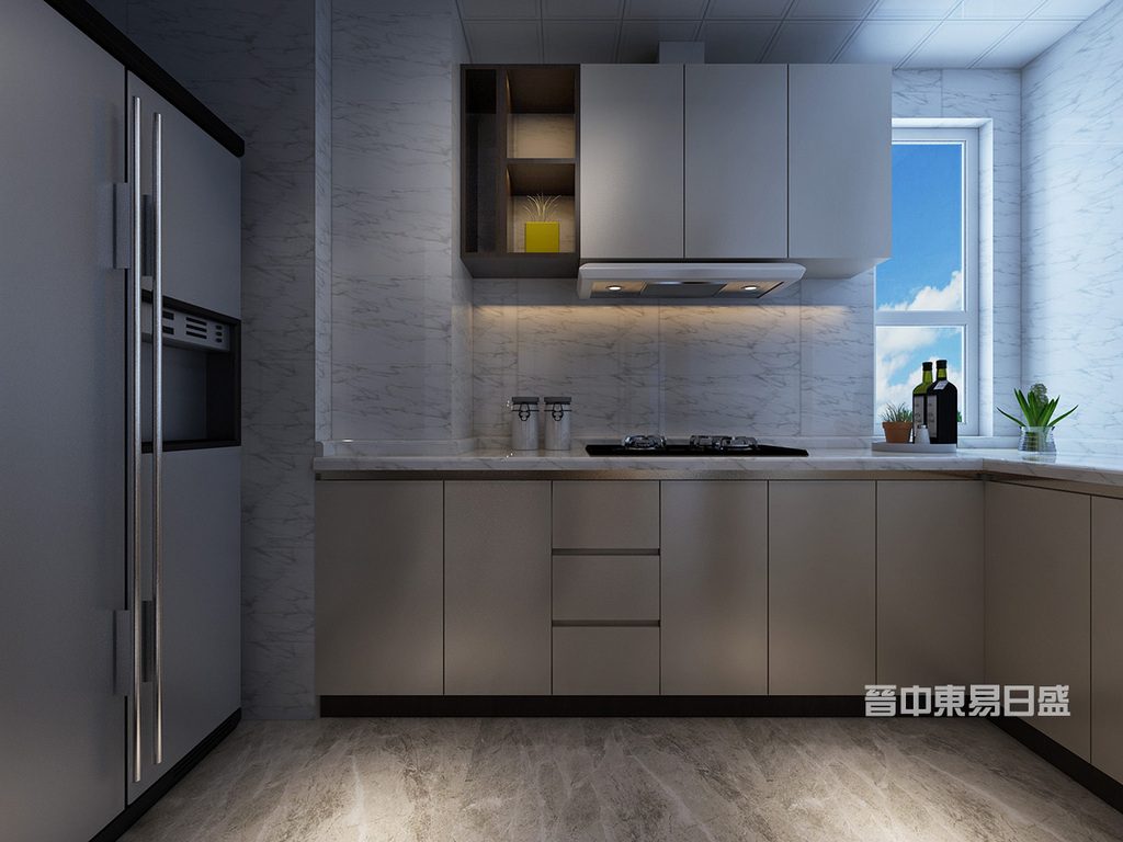 现代化的时房是家庭装修的重要组成部分,是制作食品的场所。光线充足、通风良好、环境洁净和使用方便是现代化厨房的装修摹木要求。颜色的选择以清洁、卫生为主。