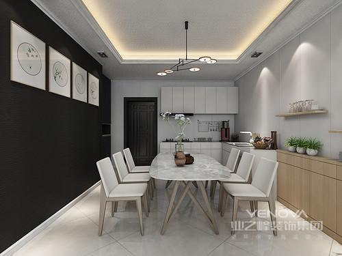 设计理念: 整个空间以庄重的黑、高冷的灰和纯净的白为主色,变奏出现代时尚的三居。从功能上来说,每个空间具有其实用之意,不管是嵌入式设计,还是平整的几何造型,都让功能之中藏有艺术气息;同时,设计师以巧妙的软装和布艺等增加空间的柔和感,让硬朗的空间多了柔情温馨,摒弃繁缛豪华的装修,只力求拥有一种自然简约的生活空间。
