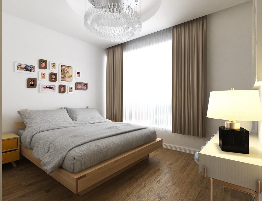 卧室格局清晰,干净整洁,背景墙与主卧一致。