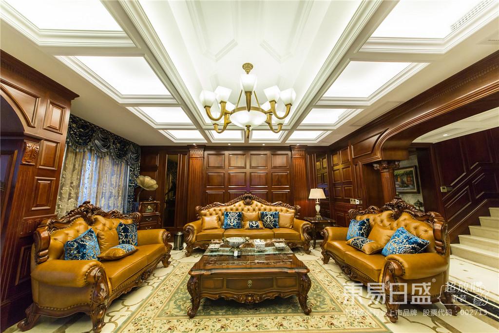 经典美式客厅,大气,典雅