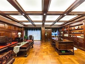 美式風格書房裝修效果圖