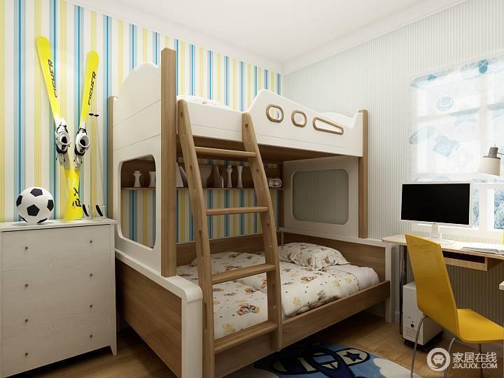 北欧原木色简单自然人性化,让孩子们更能感触到大自然的身临其境。