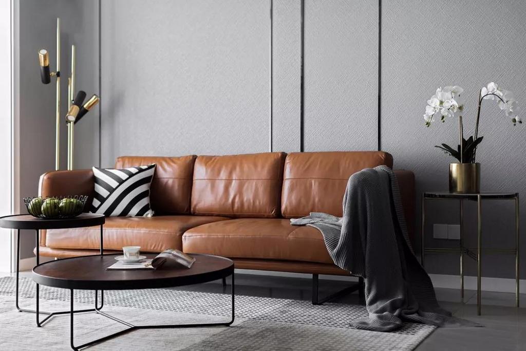 沙发背景墙没有选用挂画去装饰,而是用线条去勾勒出层次感,简约而不简单。