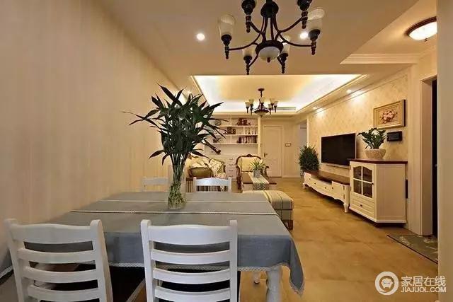客餐厅一体 ,空间得到了充足的利用