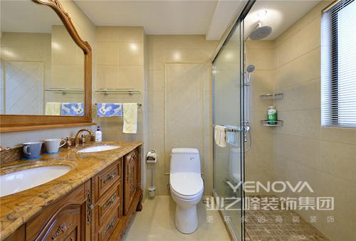 卫浴空间合理舒适。