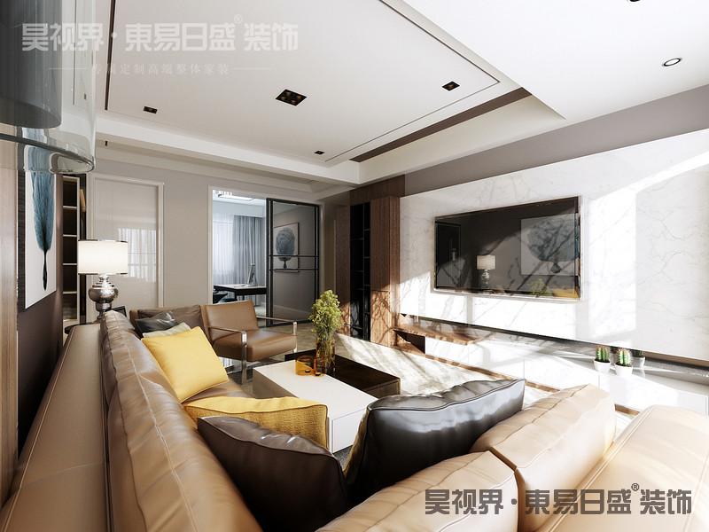 开放式格局的现代港式风格,在摒弃常规居住空间的设计模式上,将客厅、餐厅、休息区等各个分散式的空间串联为一个整体,让不同的功能空间彼此拥有特性,又能保证互相融汇的开阔性、整体性。
