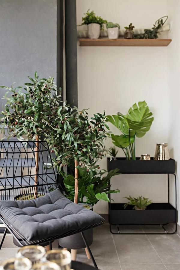 阳台舒适柔软的藤椅加软包垫 生机盎然的绿植,宁静又贴近自然 在这里沐浴阳光的温暖 尽享流转的惬意时光