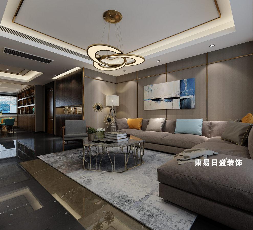 桂林彰泰•春天四居室160㎡现代风格:客厅装修设计效果图