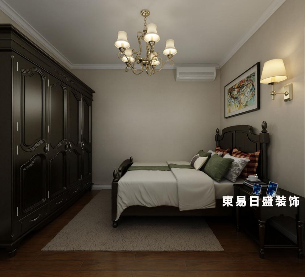 桂林悠山郡三居室130㎡美式风格:客卧室装修设计效果图