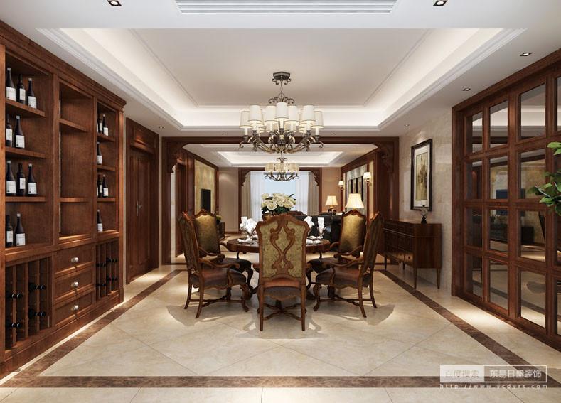 空间虽然为开放式结构,但是通过实木门框来巧妙强化功能属性;胡桃木和橡木制成的收纳柜和美式复古餐椅,以收纳和实用,让整个空间宽敞而富有历史气息,同时将空间的美式调性渲染得十足,让你感受到设计对生活品质的影响。