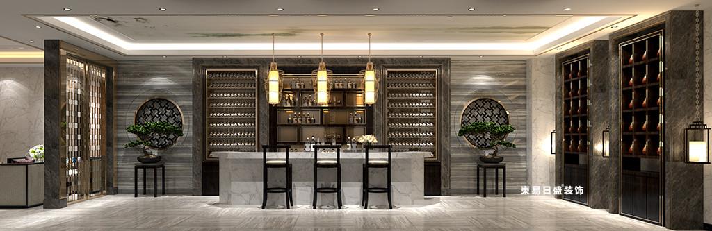 桂林广源•栖山墅别墅580㎡新中式风格:酒吧装修设计效果图