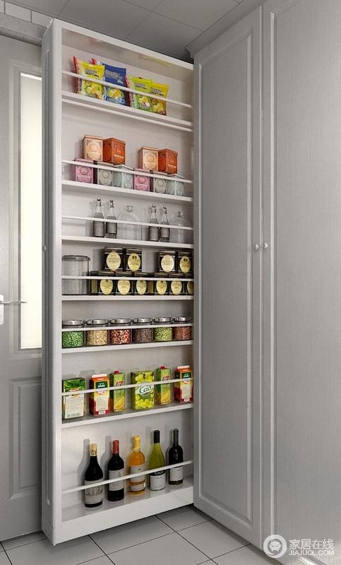 多层拉柜,简单易操作,不用打开柜门,用抽拉的方式随心取物,更加一目了然 。