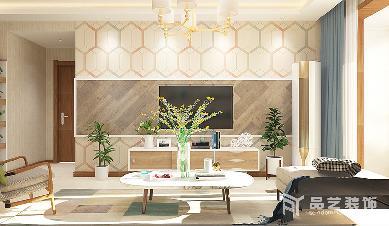 和平一号-客厅电视墙
