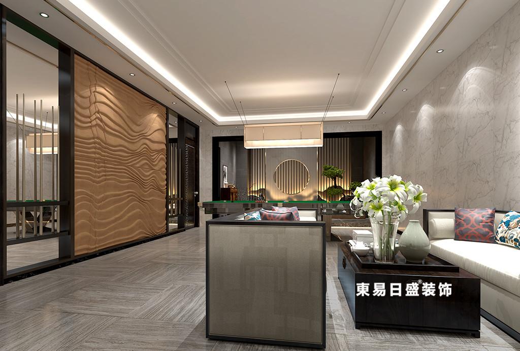桂林广源•栖山墅别墅580㎡新中式风格:娱乐室装修设计效果图