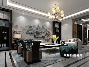 桂林广源•栖山墅别墅580㎡新中式装修风格