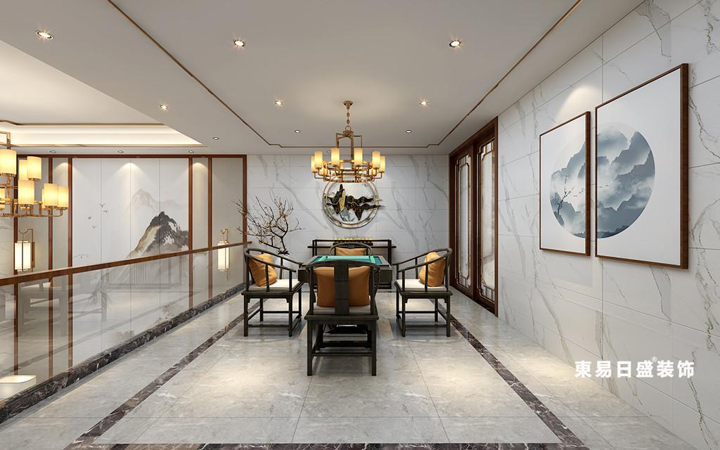 桂林华御公馆复式楼380㎡新中式风格:休闲室装修设计效果图