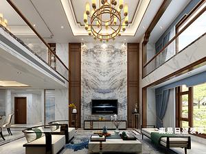 桂林华御公馆复式楼380㎡新中式装修风格