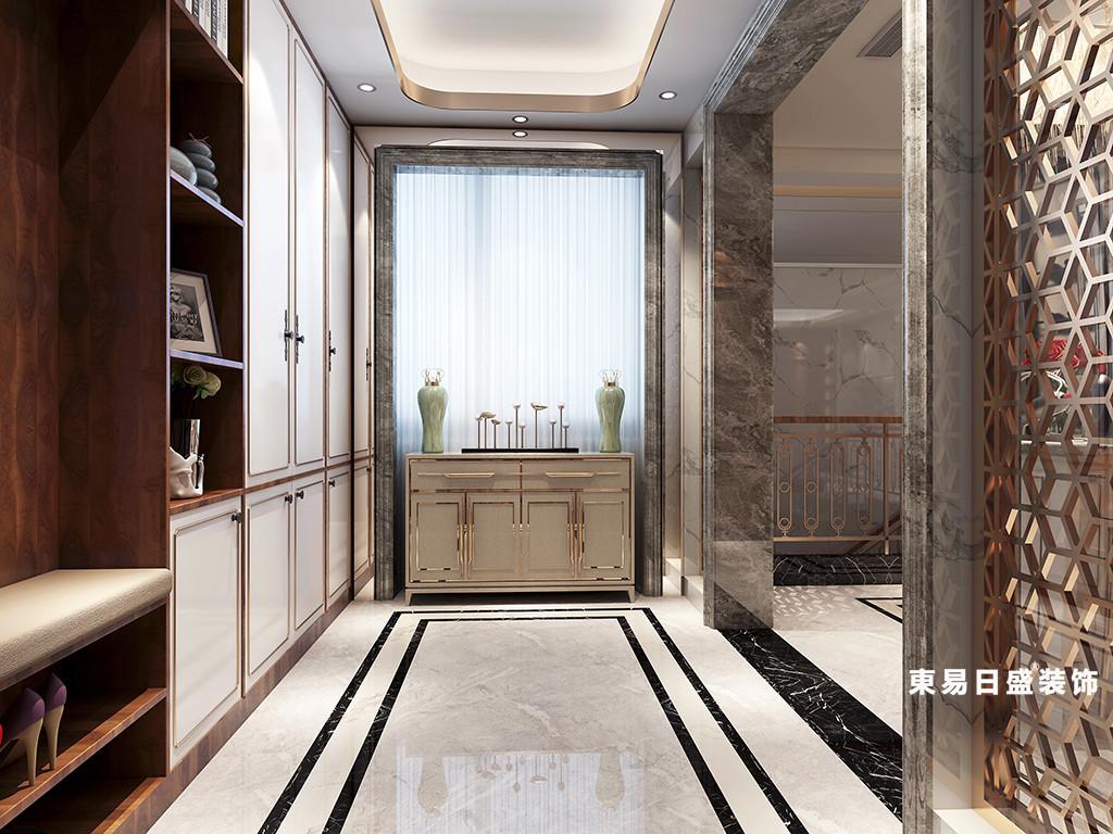桂林金地怡和东岸复式楼320㎡欧式混搭风格:玄关装修设计效果图