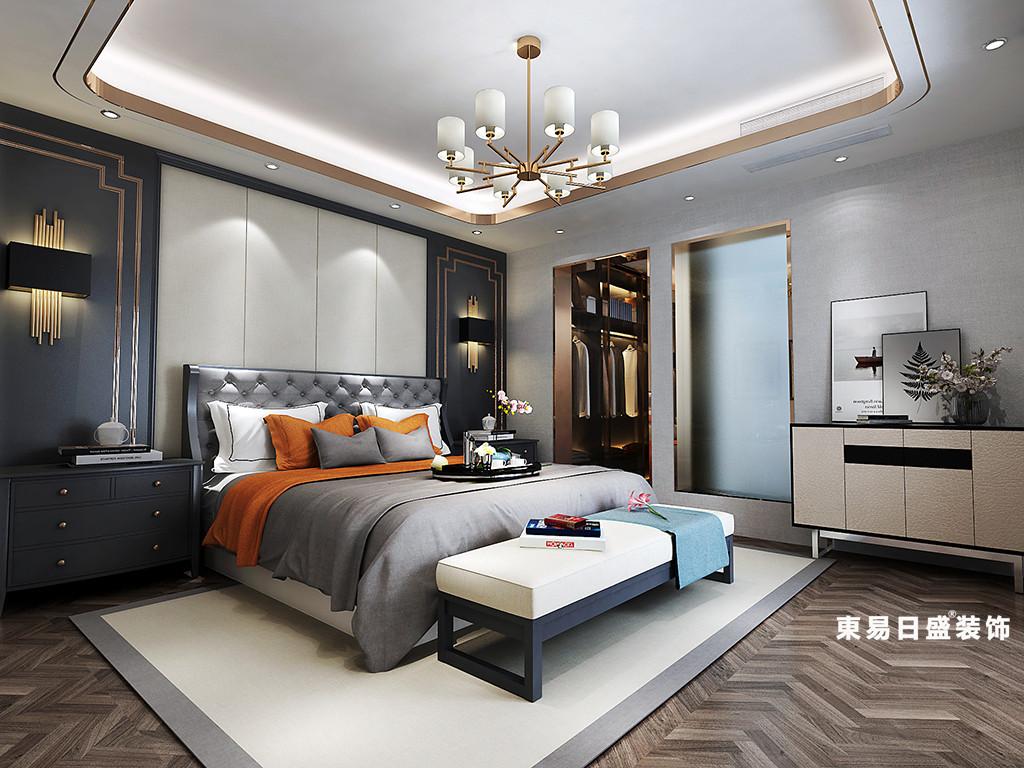 桂林金地怡和东岸复式楼320㎡欧式混搭风格:次卧室装修设计效果图