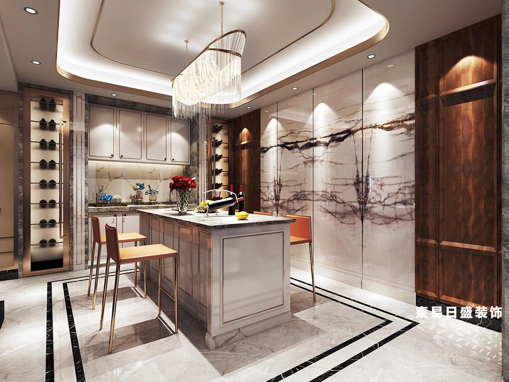 桂林金地怡和东岸复式楼320㎡欧式混搭风格:餐厅装修设计效果图