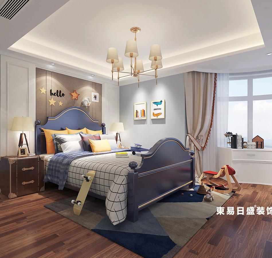 桂林金地怡和东岸复式楼320㎡欧式混搭风格:儿童房装修设计效果图