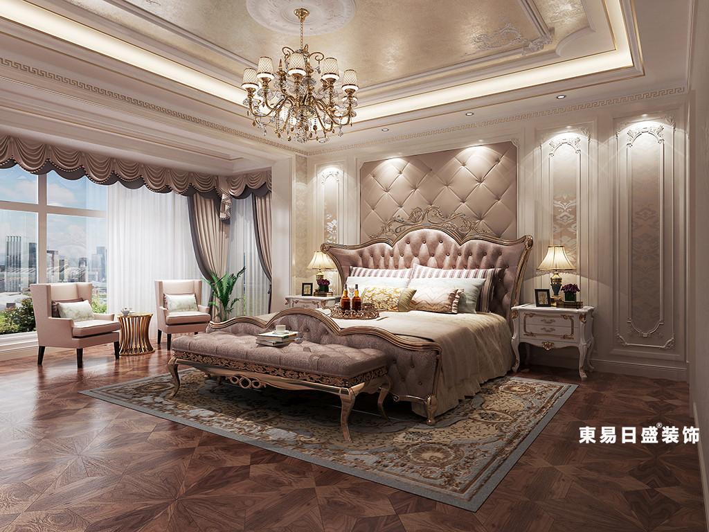 桂林金地怡和东岸复式楼320㎡欧式混搭风格:主卧室装修设计效果图