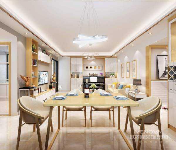 北欧风格与装饰艺术风格、流线型风格等追求时髦和商业价值的形式主义不同,北欧风格简洁实用,体现对传统的尊重,对自然材料的欣赏,对形式和装饰的克制,以及力求在形式和功能的统一。在建筑室内设计方面,就是室内的顶、墙、地三个面,完全不用纹样和图案装饰,只用线条、色块来区分点缀。