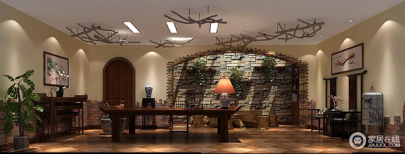 新古典主义风格从空间分隔上多用拱形垭口或罗马柱来进行划分,从简单到繁杂,从整体到局部,精雕细琢,雕花刻金都给人一种一丝不苟的印象。通过古典而简约的家具、细节处的线条雕刻