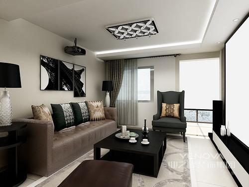 很大胆地大量用黑色元素来吸引眼球,和灰色墙面形成强烈的对比,黑白灰最简单颜色也能搭配出高品质的感觉。