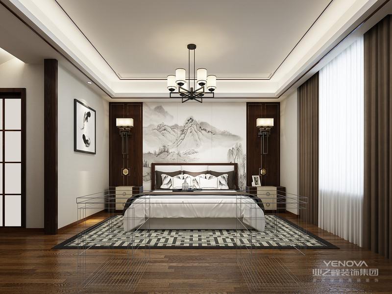 """中式风格诞生于中国传统文化复兴的新时期,伴随着国力增强,民族意识逐渐复苏,人们开始从纷乱的""""摹仿""""和""""拷贝""""中整理出头绪。在探寻中国设计界的本土意识之初,逐渐成熟的新一代设计队伍和消费市场孕育出含蓄秀美的新中式风格。在中国文化风靡全球的现今时代,中式元素与现代材质的巧妙兼柔,明清家具、窗棂、布艺床品相互辉映,再现了移步变景的精妙小品。"""
