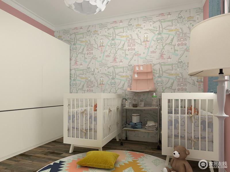 大胆设计粉色搭配白色不仅让空间焕然一新,粉色的温馨浪漫让心情回暖。
