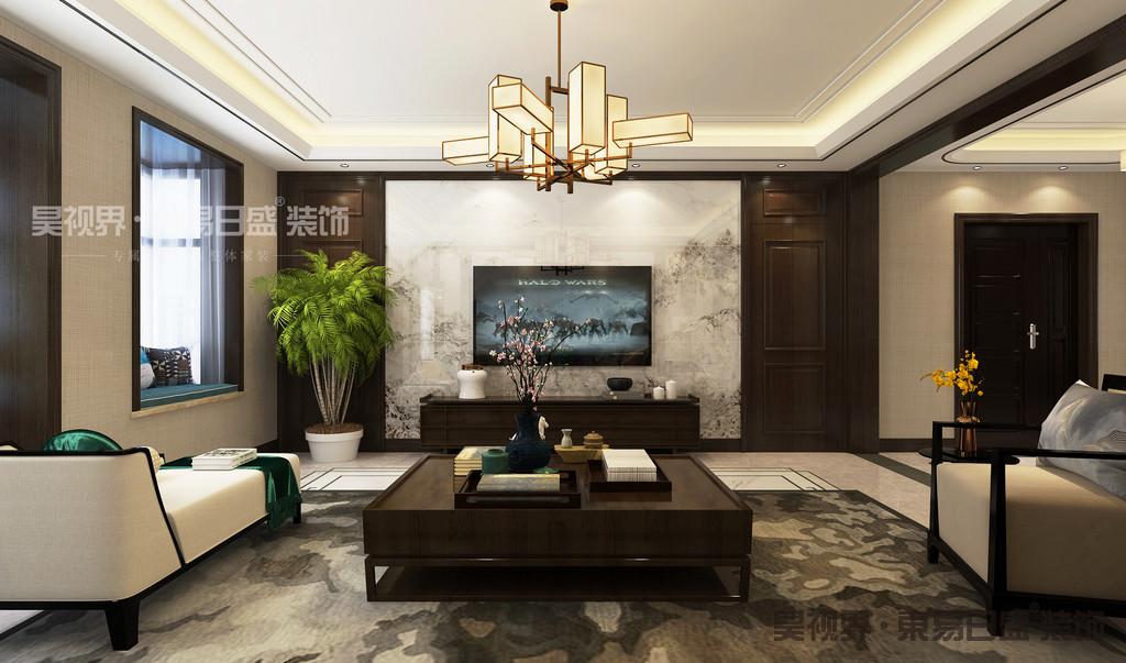新中式建筑风格讲究对称之美,外加以屏风,窗棂,来划分空间层次,造型古朴而典雅,色彩清新而优美,呈现一种古韵犹存的空间氛围。