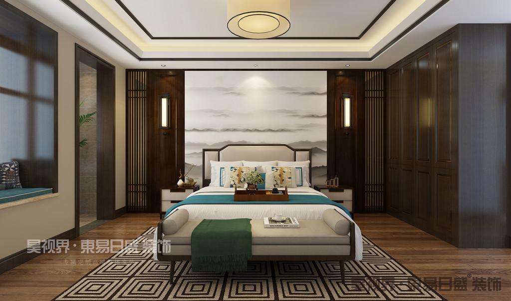 卧室是提供休息的场所,它的设计一定要符合现代人的审美与生活需求。所以新中式卧室在设计风格上,将现代生活理念融入其中,没有了复杂的线条,而是采用干净利落的直线来勾勒层次。