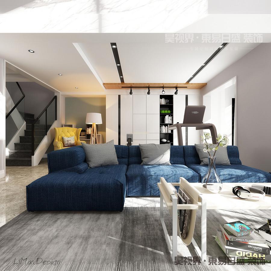 沙发选用的是亚麻沙发,坐感舒适。