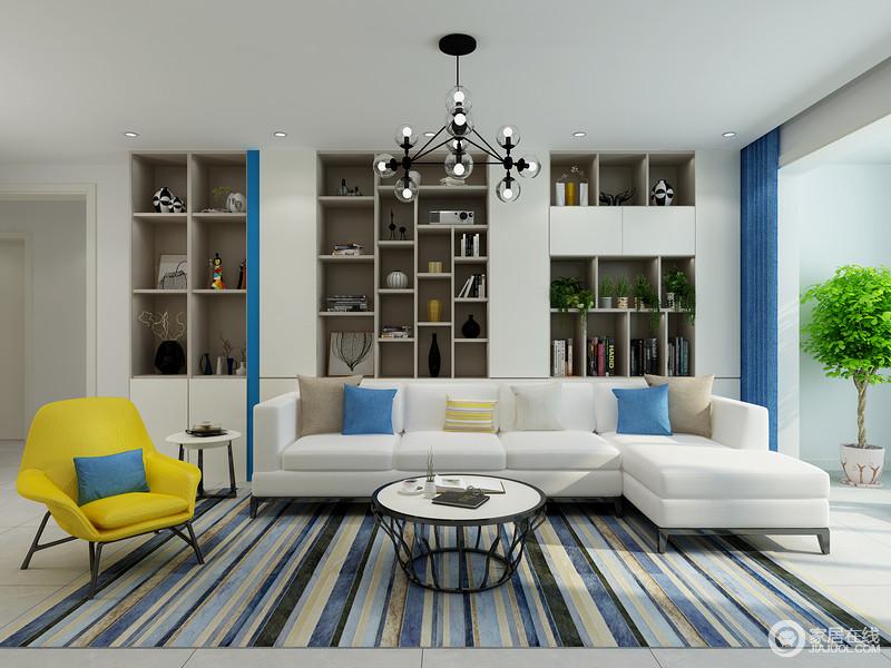 功能强大的定制收纳柜既能满足日常收纳也要有展示区的功能,满足您对客厅的多元化需求。