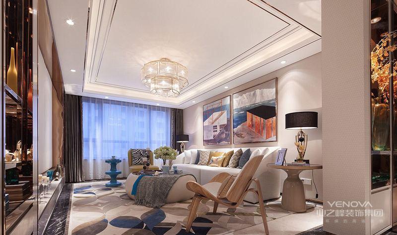 风格诠释:整个空间以白色和玫瑰金为基调,通过明亮的对比以及水果色的运用,营造出极简恬适的居家风格,设计师在空间也对空间结构关系做了很大的调整,运用了大面积的镜面效果隐藏不合适的空间,让客户在繁重的工作后可以在饮食上享受到生活的情趣。