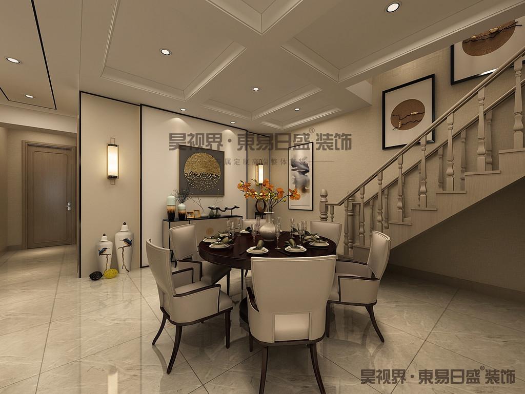 在室内色彩方面,本案以黄色,黑色和原木色来打造新中式的氛围。