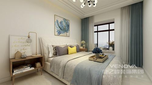 简单而舒适的卧室,让身心疲惫的你感到放松,更具归属感和温馨感。
